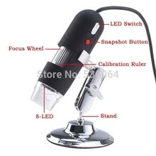 digital usb portátil 50-500x 2.0 mp câmera endoscópio lupa microscópio 8 led frete grátis(China (Mainland))