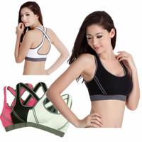 Wireless Sports Underwear Fitness Running Vest fitness jogging for women Sports Bra sports top for yoga