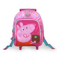 peppa pig cartoon school bag  backpack,girl's pull rod bags,children's travel backpack,kid's luggage case school bag