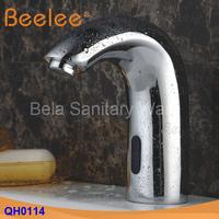 Chrome Solid Brass Bathroom Sink Faucet Automatic Sensor Free Touch Tap Sensor Faucet (QH0114)