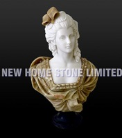 natural marble stone vintage busts hand carving figure sculpture statue