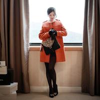 2014 straight woolen outerwear female overcoat top outerwear