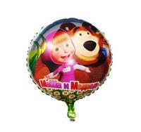 Cartoon Aluminum Classic Toy Happy Birthday Decoration Masha and Bear Balloon for Wedding Party Supplies Foil Ballon