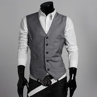 Newly Men Male Vest 2014 Summer Autumn Slim Fit High Quality Casual Single Breasted Suits Formal Blazer Waistcoats Tops SplicexS