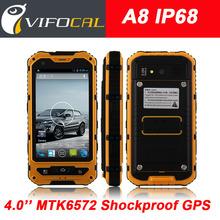 "Original A8 IP68 Waterproof Shockproof Rugged Phone MTK6572 Dual Core 4.0"" Gorilla Glass Android 4.2 4GB 3G GPS 3000mAh 5.0MP"