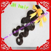 Aliexpress 6a unprocessed JH hair Mixed length 3pcs Best quality brazilian virgin hair extension body wave machine hair weft