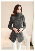 2014 autumn women's slim plus size short design slim woolen overcoat woolen outerwear female