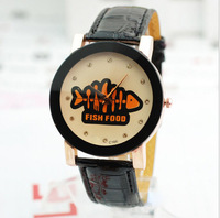 Fashion simple 4 colors (pink, brown, black, white) strap lady wrist watch waterproof and magnet.