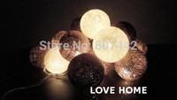 20 Balls/Set Blue Cotton Balls Fairy 220v neon light Christmas weddings & events, Free Shipping