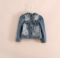 New 2014 Autumn Boutique Children clothing girls fashion high quality denim jacket 5pcs/lot