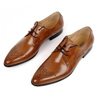 free shipping High quality men's leather shoes