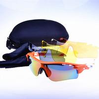 2014 NEW Men's Cycling Frame Sports Sunglass Radarlock Polarized Outdoor Sport eyewear 5Pcs Lens New Sunglasses Free Shipping