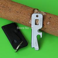 Novel Mini 5 in 1 Wrench Key Ring Knife w/Sheath Multi-Tool Keychain, free shipping