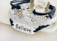 new 2014 fashion designer ornamentation promotion origami owl Pu Braided Wax Cord Love bracelets bangles
