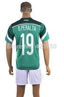Cheap Shop for 2014 Brazil World Cup Soccer Jersey Mexico Football #19 O.Peralta Men Jersey Hot Saler High Quality