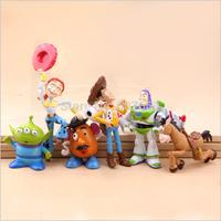 Hot Sale Woody Buzz Lightyear Jessie PVC Action Figure Toys Dolls 6pcs/set Children Toys