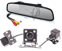 4.3 Inch TFT Car LCD Rearview Mirror HD LCD Display Rearview DVD Mirror Monitor with Car Camera  CA407