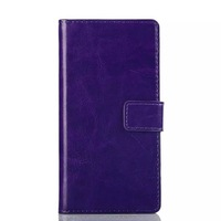 For Sony Xperia M2 S50h Crazy Horse Leather Wallet credit card stand pouch holder purse holster pouches case 1pcs China Post