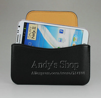 Holster Leather Sleeve Pouch Cases Bag With Belt Clip Cover For Samsung Galaxy Note 2 N7100,Free Screen Protector