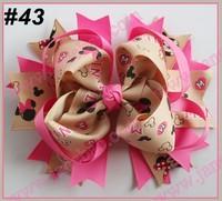 free shipping 50pcs 5.5'' big hair bows girl hair accessories popular girl hair clips