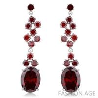 2014 New design Swiss Zircon Dangle Earrings exaggerated Austrian Crystal women's Drop earrings Platinum plated earrings(FE-105)