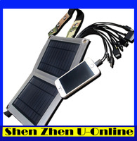 Wholesale 10PCS mobile Solar Panel Power +Universal Multi10-in-1 Charger Cable +Foldable USB Battery Charger Bag with free DHL