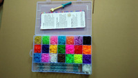 Free FedEx shipping 36sets /a lot newest  rubber bands loom kit Refills Bands 5000bands+240S-Clips for DIY bracelets