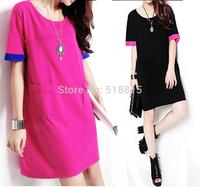 Free shipping cotton summer dress OL temperament  elastic Slim plus size For Women Fashion Wear(TFC014)