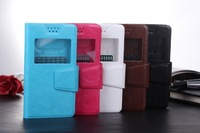 wholesale 30% off!! 5 color   windows  flip PU  Leather case for samsung galaxy S5660 Bag Cover +free ship