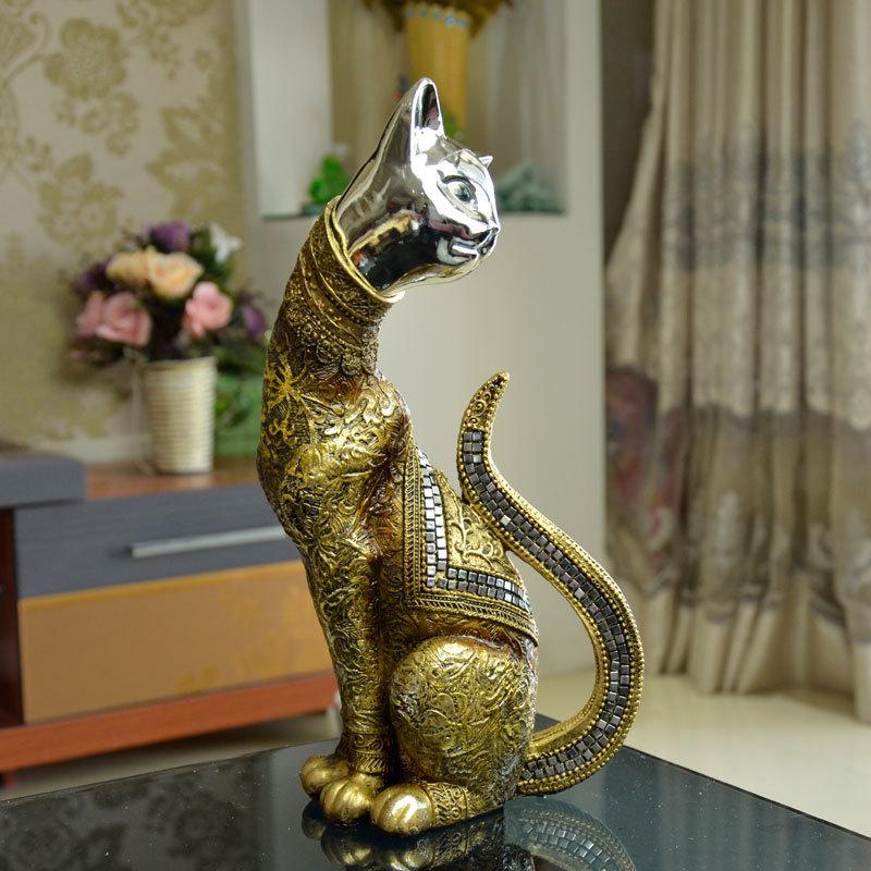 Large Golden Cat Ornaments Wholesale Creative Unique