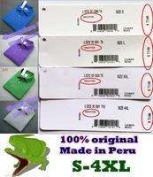 EU size--Crocodile lOGOL.A.C.O  Made in Peru 2014 Spring-Summer Men Casual shirts,CASUAL Mesh shirts/100% cotton/plus size Men