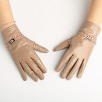 (1pair/lot) Leather Gloves ! New Design 2014 Winter Women's Working Glove,Fashion Style Windproof Warm Driving Mittens