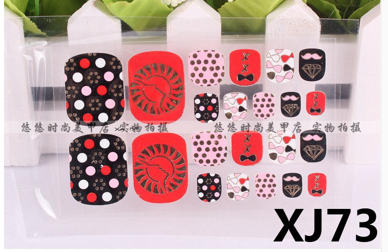 3 d nail polish product environmental protection sticker metal stamping pattern toenails nail strips(China (Mainland))