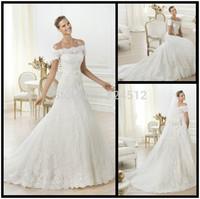 New Hot European Romantic Style Lace Wedding Dress Custom Made Wholesale & Retail Vestidos