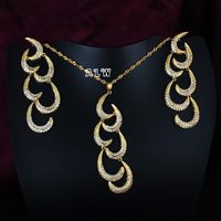 Romantic crescent joint Jewelry Sets Women Necklace&Earrings Gold or sliver Plated Wedding Accessories ALW1756