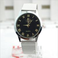 Paragraph 2014 speed sell pass hot popular contracted Roman scale mesh belt watch men  watch/watch women