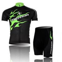 Cycling Jersey Bicycle Bike Short Sleeves Cycling Jersey+Shorts merida