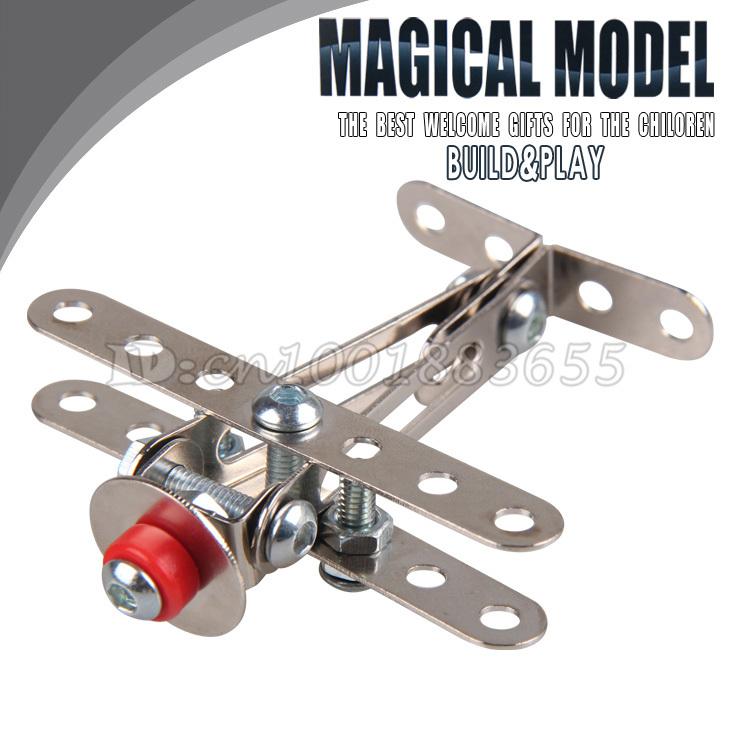 Livraison gratuite en alliage métallique bricolage puzzle jouet assemblé à la main des jouets pour enfants amovible. enlever l'écrou petits aéronefs/planes.