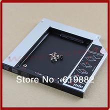 "Hot Sale! Universal 9.5mm 2.5"" SATA 2nd HDD Hard Driver Caddy For CD DVD Optical Bay(China (Mainland))"