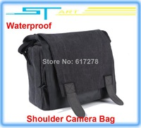 2014 Fashion Waterproof Camera Bag Digital SLR Shoulder Canvas for DSLR Canon Nikon VS DJI Phantom Case Free shipping