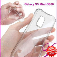 Galaxy S5 Mini Case For Samsung G800 Transparent Clear Crystal Soft Rubber Bag Cases Luxury TPU Silicone Cell Phone Accessories
