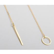 1pc Exquisite Beautiful Simple Golden Bar Lariat Necklace Gift