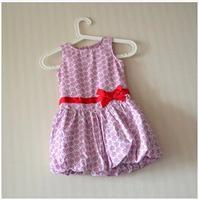 new arrived Girls  Cotton bow petal  sleeveless dress, girl dress , retail