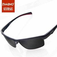 Men tide authentic sunglasses driving mirror sunglasses polarizer aluminum magnesium car driver mirror sunglasses