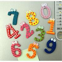 10pcs Large digital refrigerator 0-9 early childhood educational and creative color cartoon fridge magnet fridge magnet 3315