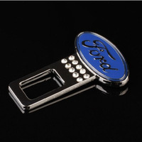 Ford Focus Zinc Alloy DAD Metal seatbelt buckle, 2pcs/set car seatbelt buckles with diamond universal use