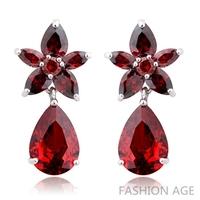 2014 New design Swiss Zircon Dangle Earrings exaggerated Austrian Crystal women's Drop earrings Platinum plated earrings(FE-108)