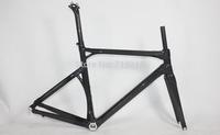 2014 new bike raw carbon fiber road racing frameset size 50&53&55&57cm unpainted oem bicycle frames cheap bike taiwan bicycle