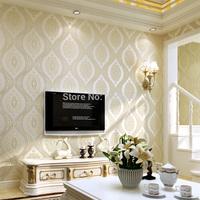 European non-woven wallpaper wallpaper bedroom living room TV backdrop of high-end 3D stereo effect Non-woven wallpaper