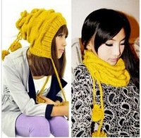 Free shipping  fashion women's knit hat,The color of the pineapple hat, Scarf hat,Skullies & Beanies  5pcs/lot   Wholesale
